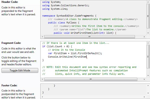 CodeFragments