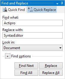 EditorSearchView