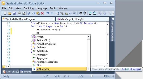 OfficeBlueCodeEditor