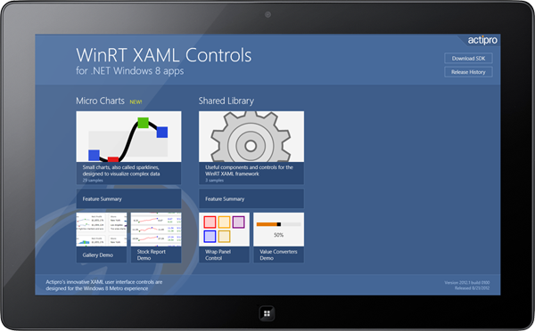 Actipro WinRT XAML Controls for Windows 8 Released