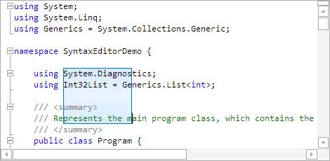 SyntaxEditorBoxSelection