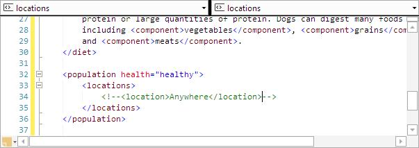 SyntaxEditorXmlLineCommenter
