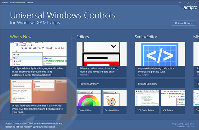 UniversalWindowsControls