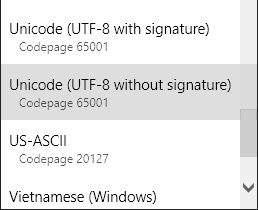 Utf8NoSignature